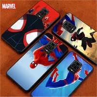 marvel spiderman animation for xiaomi redmi note 10 10s 9t 9 9s 8 8t 7 7s 6 5a 5 4x 4 pro max tpu prime phone case