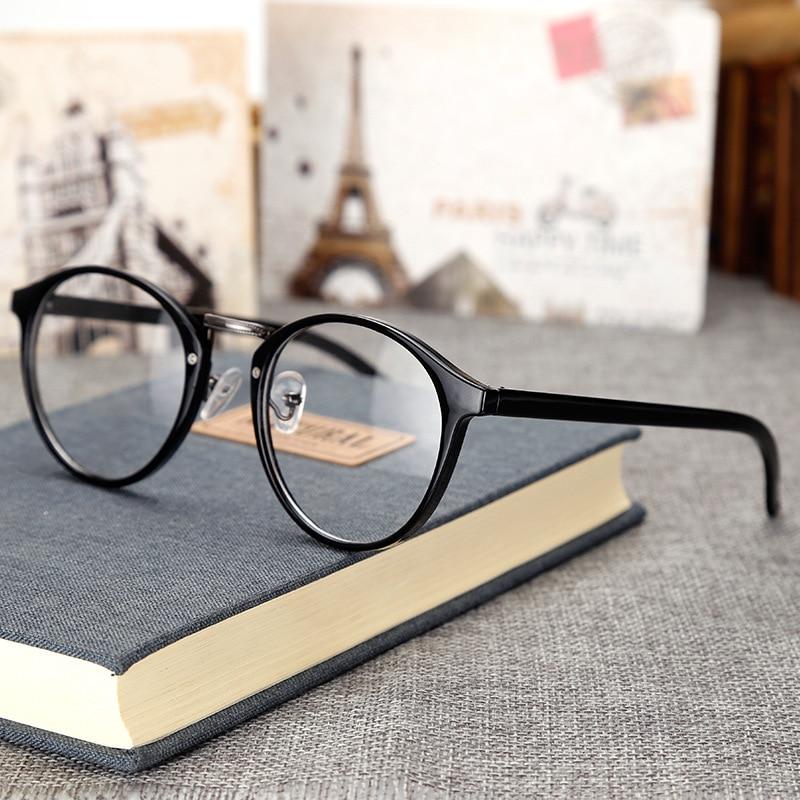 Gafas redondas transparentes Vintage de moda montura transparente anteojos para miopía para mujer montura de gafas para hombres montura óptica nerd