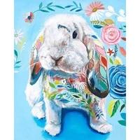 full squareround drill 5d diy diamond painting color rabbit 3d rhinestone embroidery cross stitch 5d home decor
