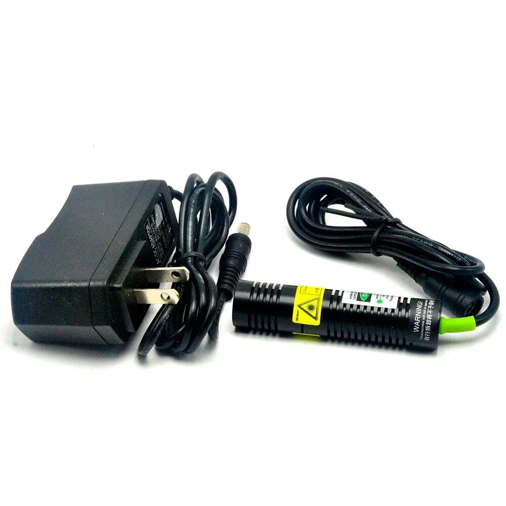 532нм 50 мВт зеленый линия% 2FDot лазер диод модуль w 5V питание% 26 адаптер +% 26Держатель +% 26K9 линза