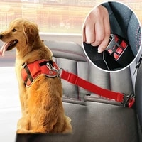 pet dog cat car seat belt dog collar accessories adjustable harness lead leash for small medium dogs