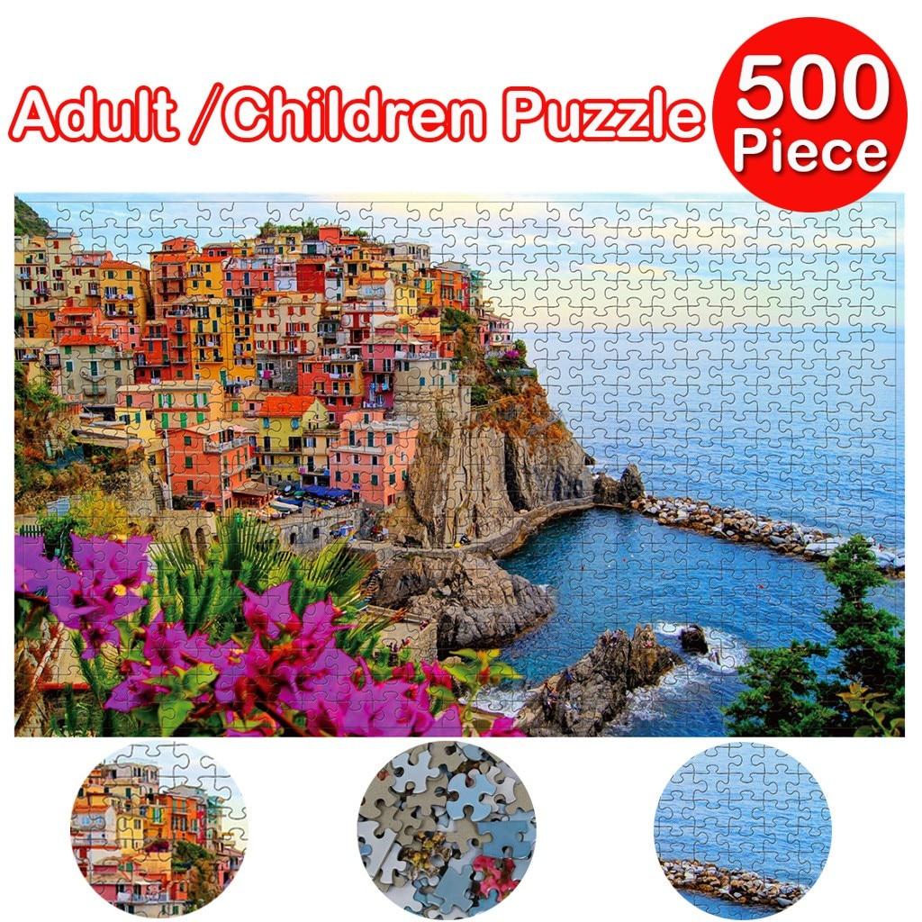 Juego de rompecabezas grande de 500 piezas, juguetes interesantes, regalo personalizado, decoración del hogar, pinturas para adultos, juegos de rompecabezas de ensamblaje, regalos