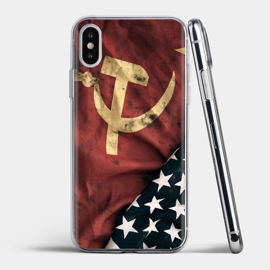Cccp USSR bandera logotipo para Xiaomi Redmi 4A 7A S2 Nota 8 3S 3S 4 4X 5 Plus 6 7 6A Pro teléfono móvil F1 de animación de la caja del teléfono de silicona