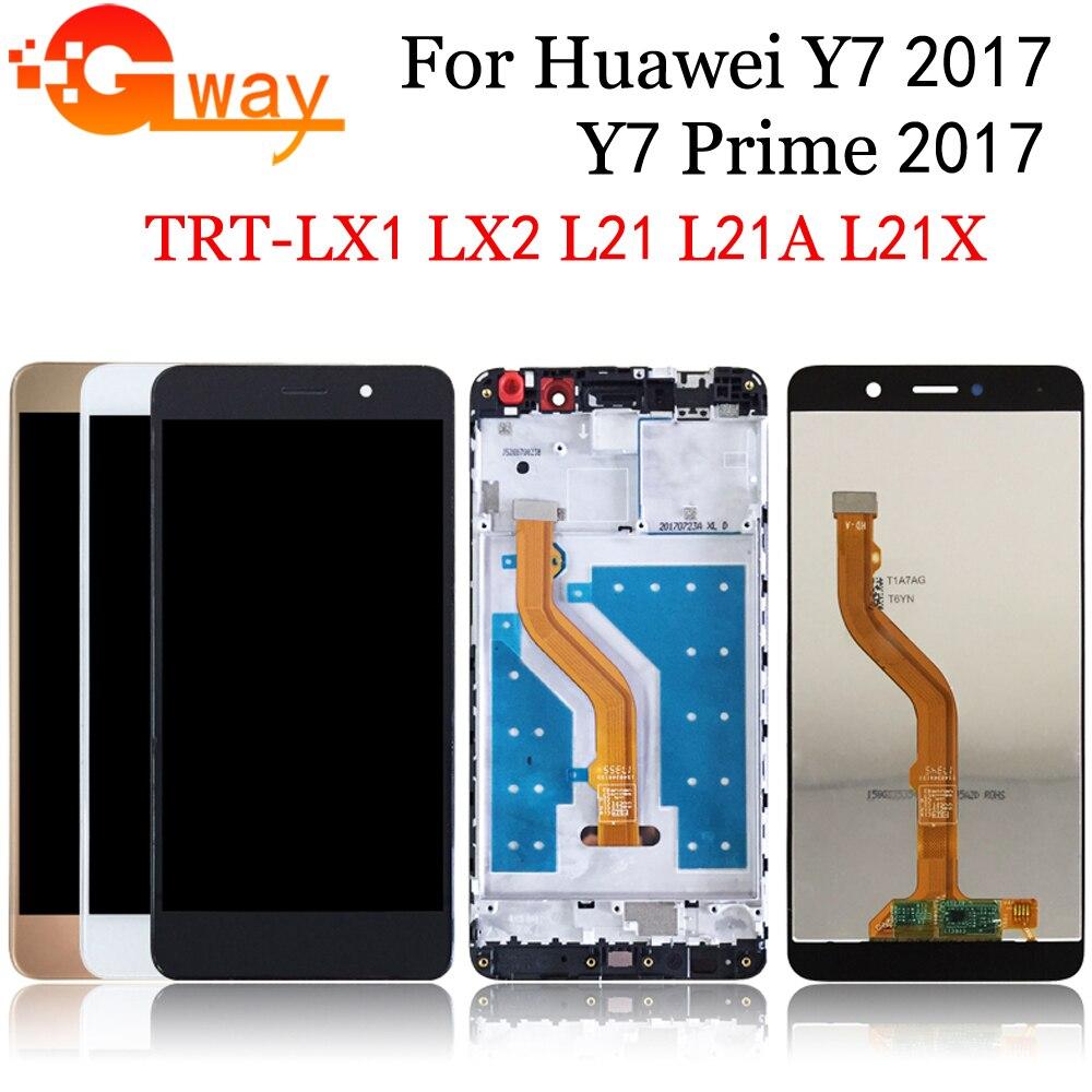 AAA لهواوي Y7 2017 Y7 رئيس 2017 LCD عرض تعمل باللمس محول الأرقام لهواوي Y7 رئيس 2017 LCD مع الإطار TRT-L21 TRT-LX1