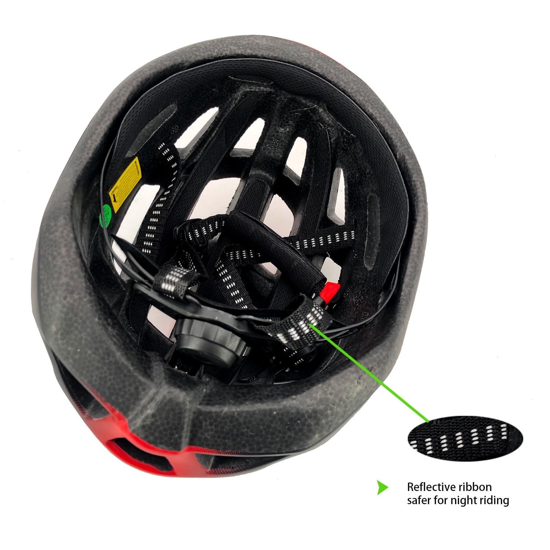 Exclusky Super Light 200g Adult Road Race Bicycle Helmet Bike Aero Cycling Cap 56-61cm Casco para montar con luces
