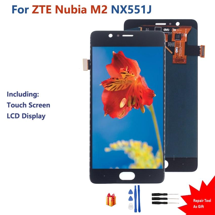 Original para ZTE Nubia M2 pantalla táctil LCD pantalla digitalizador montaje ZTE Nubia M2 NX551J pantalla táctil LCD pantalla