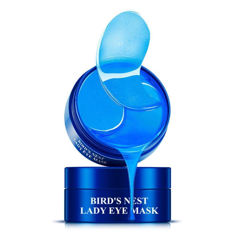 Remendos de olho do colágeno do cristal do ouro da máscara de olho para o cuidado dos olhos anti rugas círculos escuros removem o gel da máscara 60 pces