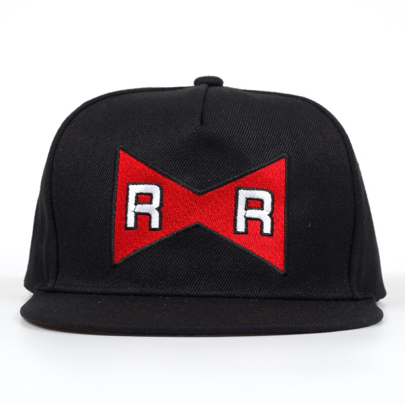 Gorra de béisbol de Dragon Ball Dr. sombrero de hip hop Gero 100% algodón Cinta Roja ejército delicado bordado Snapback gorras sin estructura sombrero