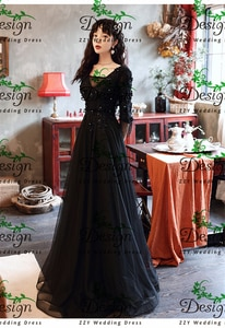 Excellent BLack Tulle Half Sleeves V-Neck Lace Appliqued Flowers Beading Crystals Evening Dresses For Women Formal Plus Size
