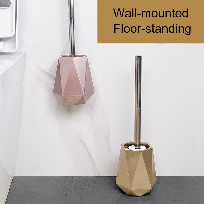 TPR سيليكون رئيس فرشاة المرحاض الشمال الحائط أو الطابق الدائمة حامل فرشاة المرحاض تنظيف فرشاة اكسسوارات الحمام