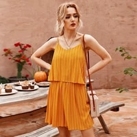 2021 summer striped small fresh suspender halter jumpsuit womens casual solid color v neck loose