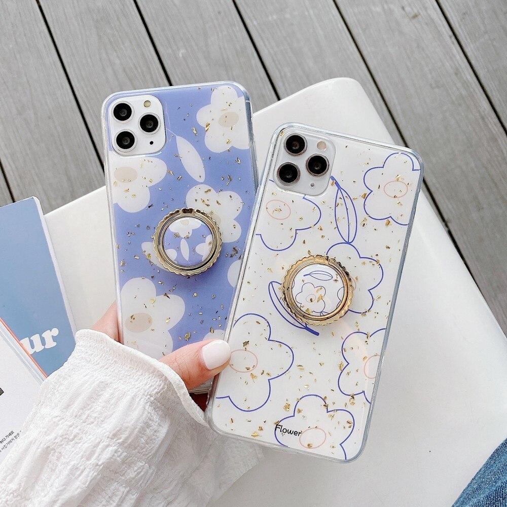 Камедь капель стентов летние цветы для iPhone 7 11 11Promax X xr XS MAX 8 Plus Модный милый мягкий чехол