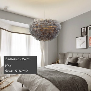 Pendant Lights E27 Feather Romantic Pendant Lamp For Bedroom Living Room Lighting HangLamp Goose Feather Suspension Luminaire