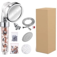 four piece shower set with hose filter ball panel combination three speed adjustment negative ion pressurized shower