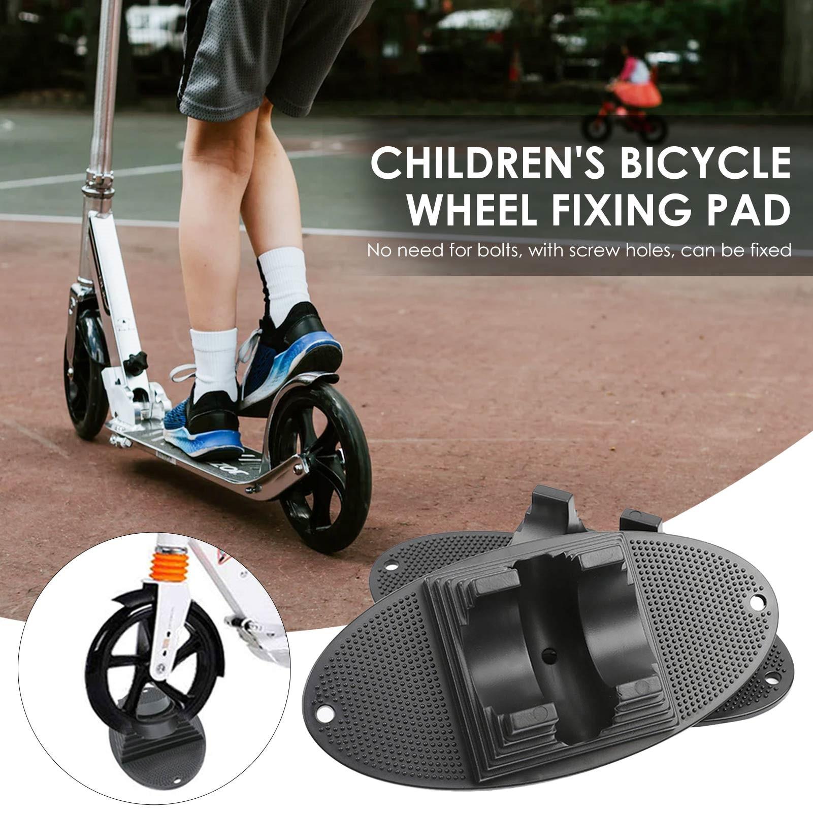 Los niños de rueda de bicicleta de fijación Pad Durable soporte estable...