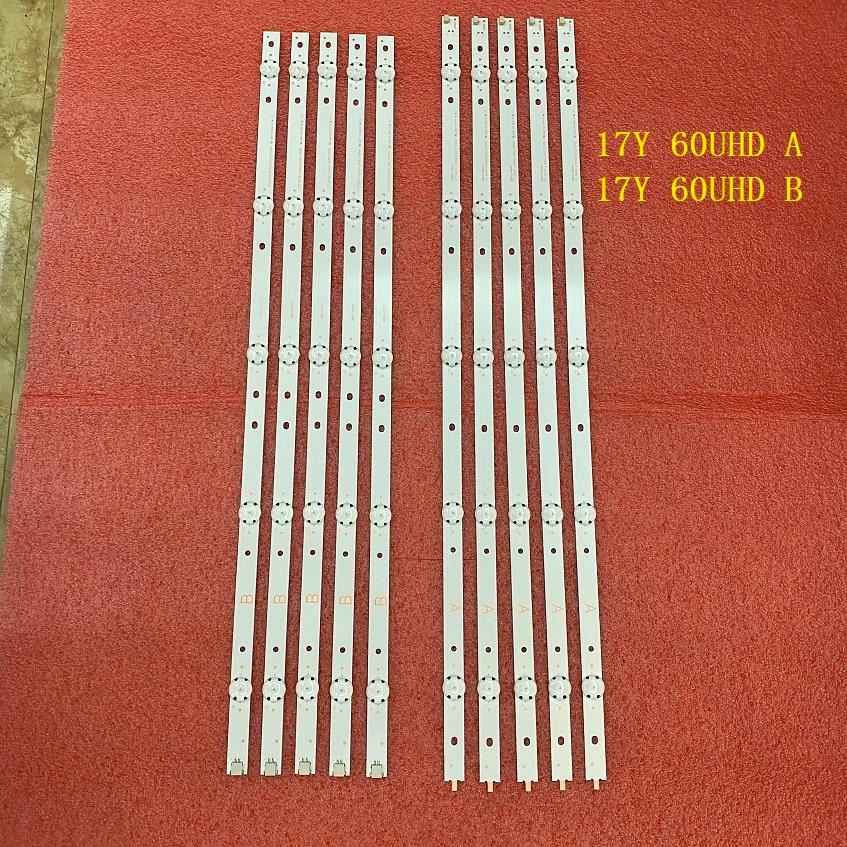 Led para Kd-60x690e Tira Retroiluminação 17y 60uhd um b Rev02 5led 170209 170309 Svg600a36-a S600duc-1 Kcl60 Set = 50 5 Pcs