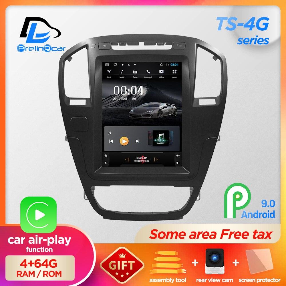 Вертикальный экран android 9,0 система автомобиля gps Мультимедиа Видео Радио плеер в тире для opel insignia автомобиля navigaton стерео