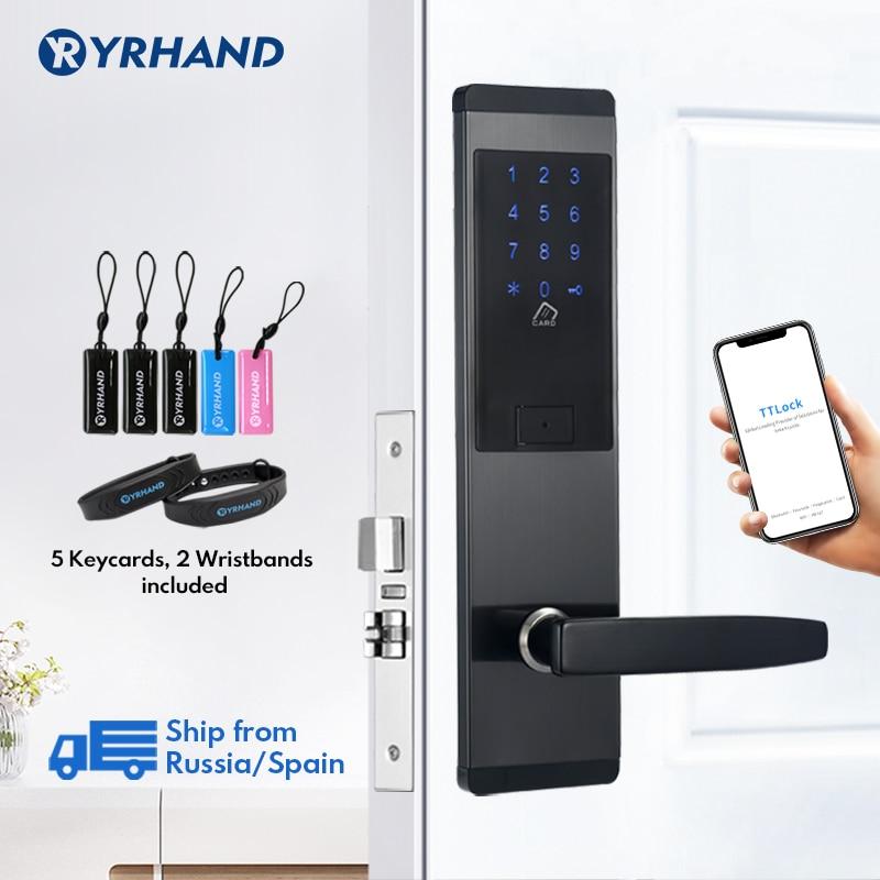 Review TTlock App Security Electronic Door Lock,  WIFI Smart Touch Screen Lock,Digital Code Keypad Deadbolt For Home Hotel Apartment