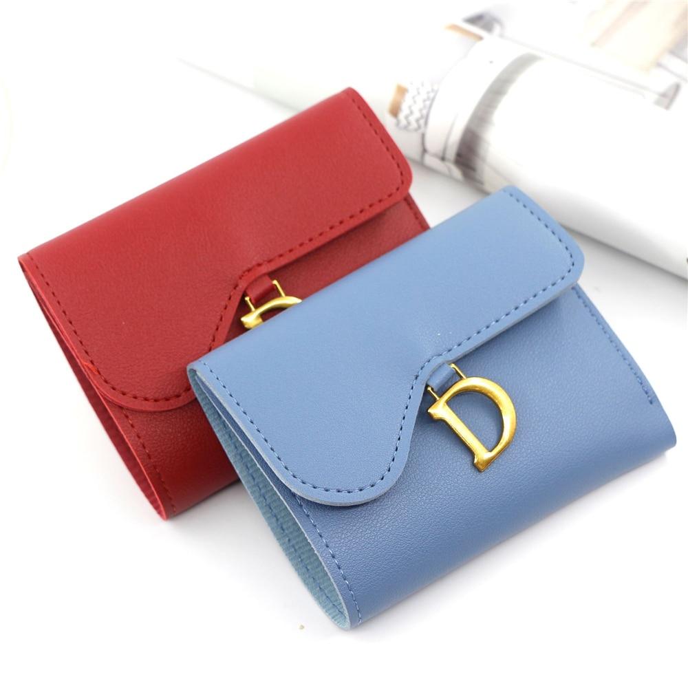AliExpress - Leather Wallet Ladies Mini Multifunction D Buckle Fashion Cute Hair Ball Zipper Purse Card Holder Luxury Brand Designer Wallets