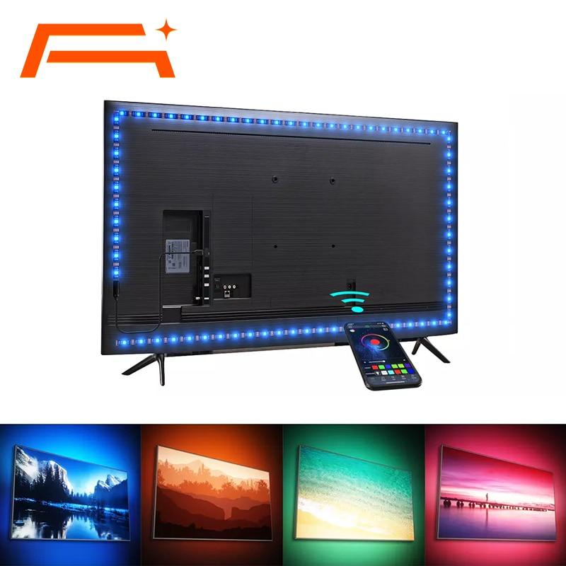 LED Strip Light,Bluetooth APP Control, Backlight for TV,5V USB Bluetooth RGB Tape Lamp For TV Background Decoration