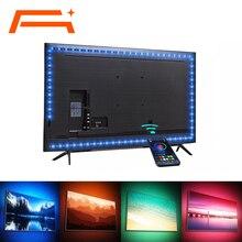 Striscia LED, controllo APP Bluetooth, retroilluminazione per TV, lampada a nastro RGB Bluetooth 5V USB per la decorazione di sfondo TV