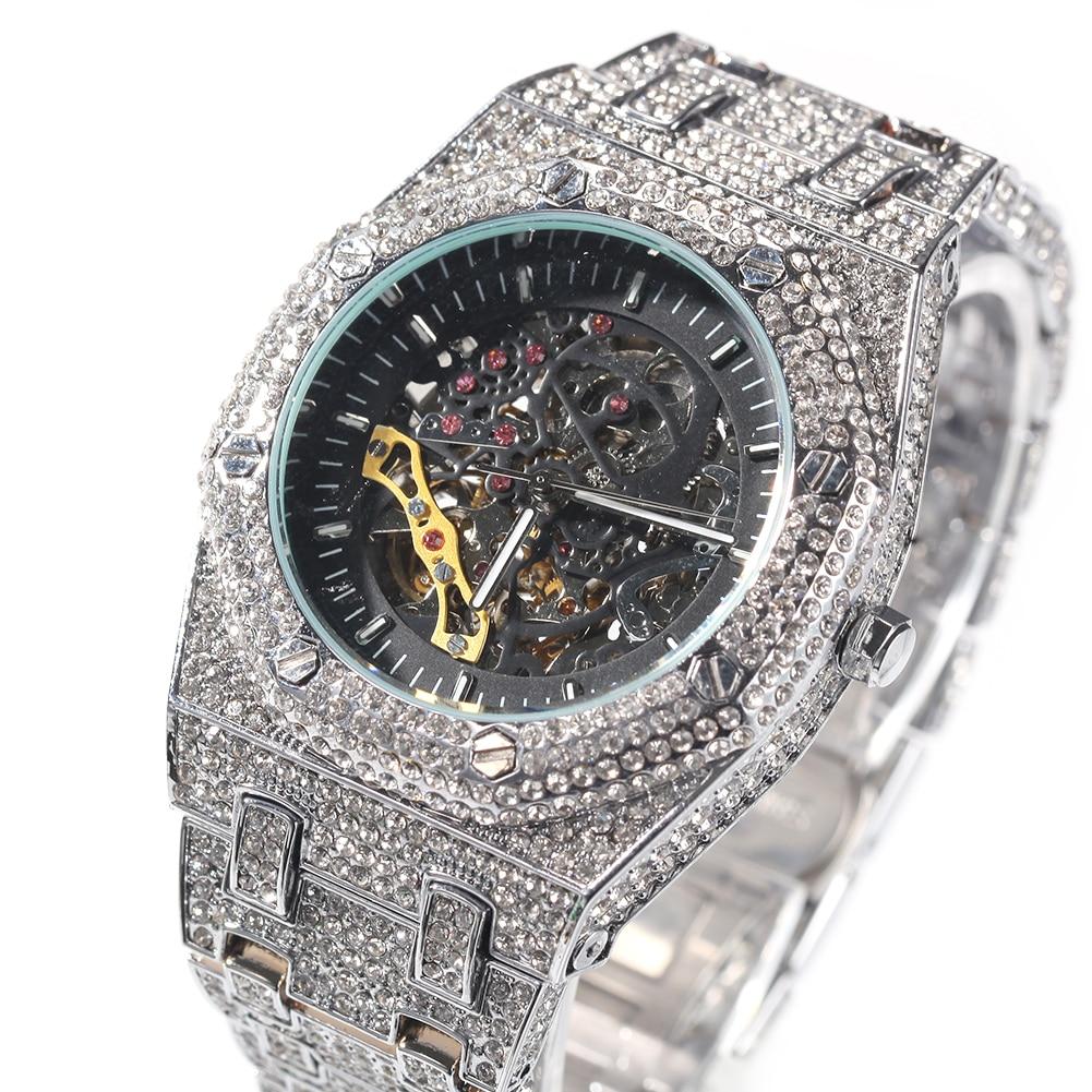 TBTK Men's Watch Iced Out Minimalist Diamond Waterproof Stainless Steel Mechanical Watch Men Top Brand Charm Jewelry enlarge