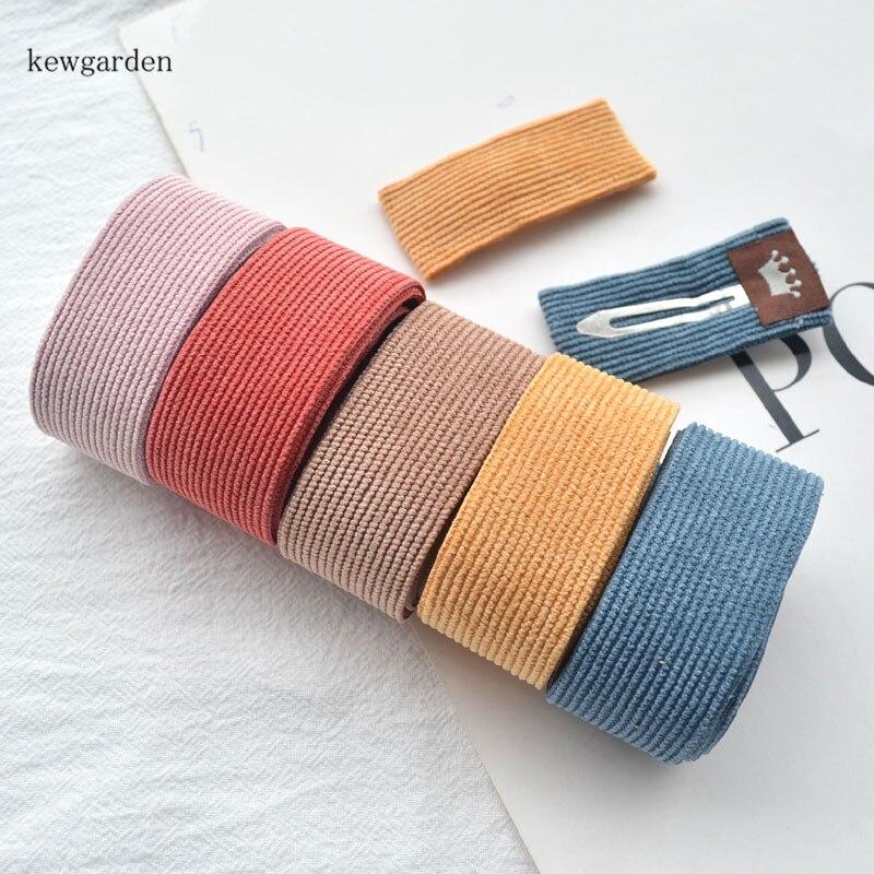 """Kewgarden 25 38mm 1,5 """"1"""" paño de pana cintas de rayas DIY accesorios para lazos de satén cinta hecha a mano 10 yardas"""