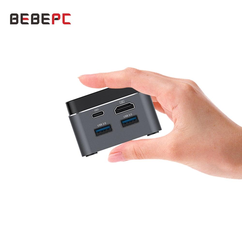 Portable Mini PC Windows 10 HTPC Intel Celeron N4100 4 Cores WiFi Bluetooth 4.2 0 4K 60Hz LPDDR4 Micro Computer Type-C TV Box
