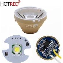 CREE XML XM-L T6 LED U2 10W blanc froid 6500 K/10000 K haute puissance LED + 3.7V 5 Modes 17mm pilote de LED + T6 10 degrés lentille de LED bricolage partie