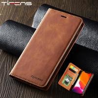 Магнитный кожаный чехол для iPhone 12 Mini 11 Pro XS Max XR 7 8 6 6s Plus 5s SE, роскошный флип-кошелек с держателем для карт, подставка, чехол для телефона