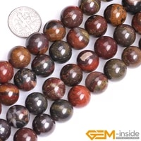 10 12mm natural brown sunset tiger iron stone round accessorries beads for jewelry making strand 15 inch diy jewelry bead gifts