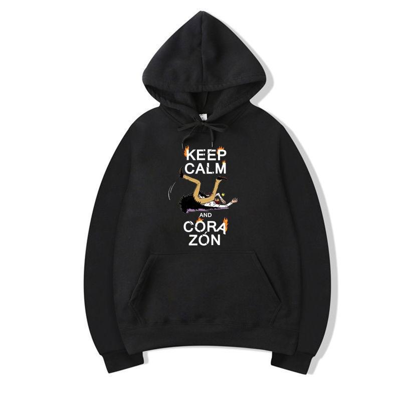 Fashion Anime ONE PIECE Hoodie Corazon Printing Sweatshirt Donquixote Rosinante Hoodies Pullover Men Women Casual Loose Unisex