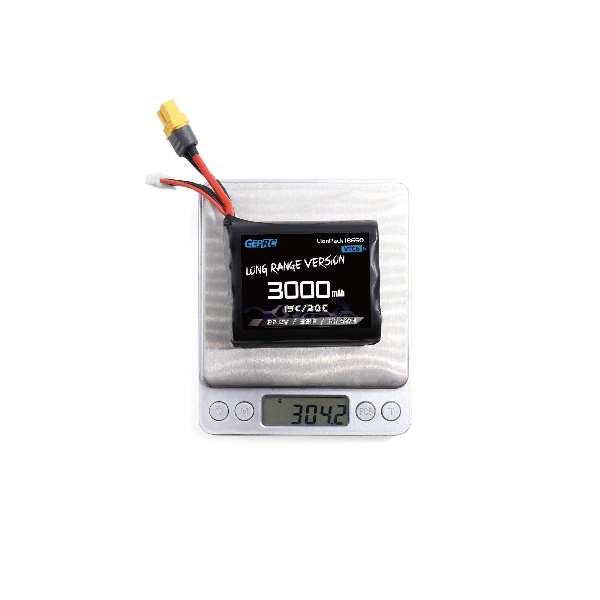 GEPRC VTC6 18650 6S1P 3000mAh Batteries XT30 XT60 Plug For RC FPV Quadcopter Drone Accessories Parts enlarge