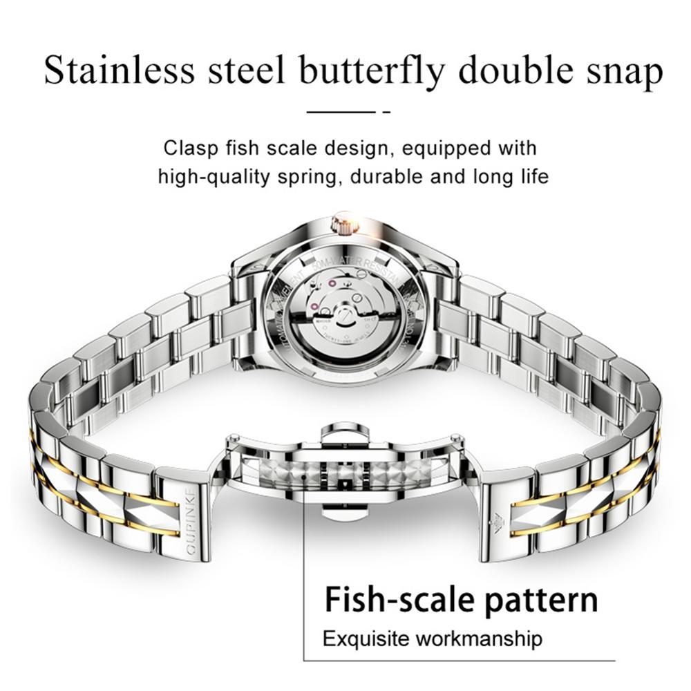 OUPINKE Women's Mechanical Watch Waterproof Luxury Brand Automatic Ladies Wrist Watch Women Watches Gifts For Women reloj mujer enlarge