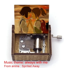 chihiro print spirited way music theme always with me Hand Music Box Christmas Birthday Gift Party D