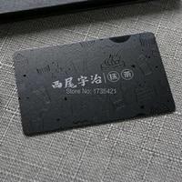 top grade inkjet black pvc business card with spot uv
