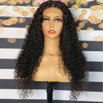 Wholesale Afro Kinky Curly Human Hair Wig 4×4 Closure Wig Pre Plucked Brazilian Lace Front Human Hair Wigs For Women 150%Density