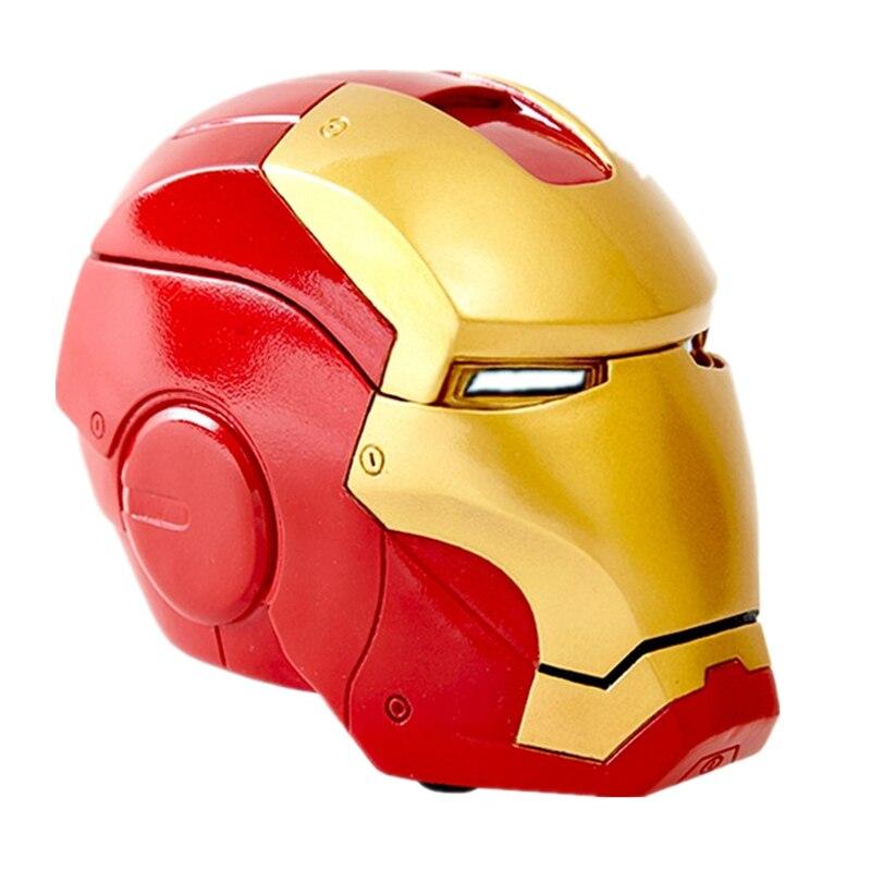 Nuevo Cenicero de cabeza de Iron Man de Marvel Avengerss, pequeños adornos, modelo de Micro cabeza, decoración para el hogar y la Oficina, regalos de cumpleaños