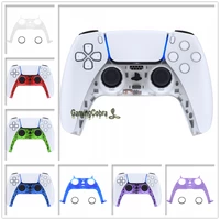 extremerate clear series decorative trim shell clip shell with accent rings for ps5 controller