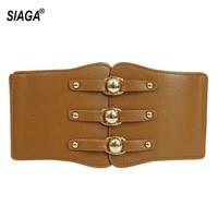 womens design decorative wide genuine leather elastic waistband waistline patent leather wide belt for women 12cm width ak010