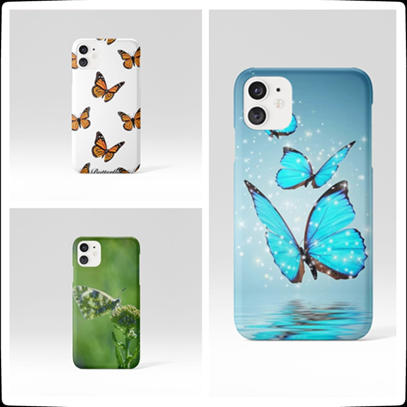 Mini Cartoon Butterfly Phone Case for Phone Case For iPhone 12 11 XS XR X 8 7 Plus 6S 6 Plus Pro MAX