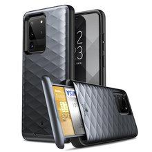 Clayco pour Samsung Galaxy S20 Ultra 5G étui Argos Premium hybride housse de protection portefeuille avec carte de crédit intégrée/fente pour carte didentité