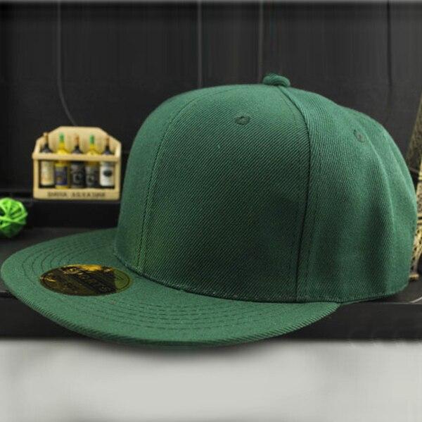 12 видов цветов Регулируемая Мужская и женская кепка для бейсбола твердая хип-хоп Snapback Плоская Кепка Козырек