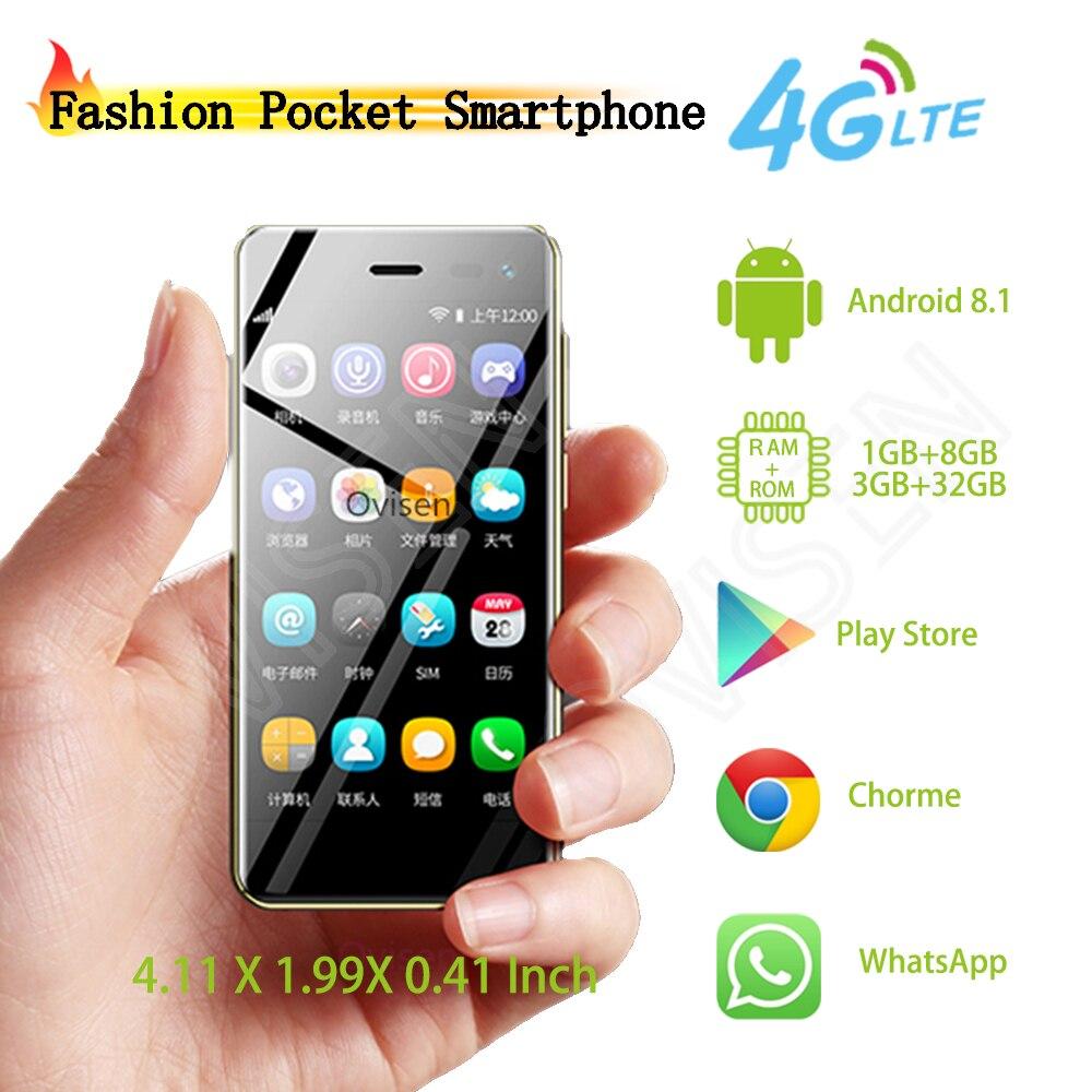 Ulcool U2 Tasche 4G-LTE Smartphone 3,15 Zoll Android 8.1 MT6739 Quad Core Google Play Store Handy Entsperrt Handy