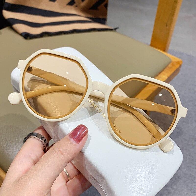 Очки солнцезащитные женские круглые, модные роскошные брендовые дизайнерские винтажные солнечные очки с защитой от ультрафиолета