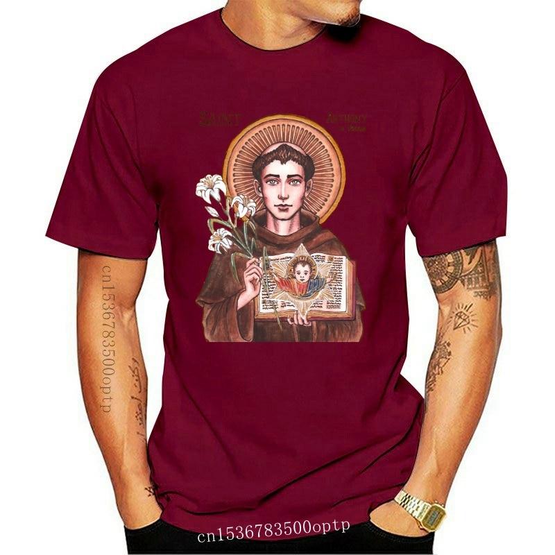 New Saint Anthony Of Padua V1 (1195-1231) T-Shirt (White) All Sizes S-3Xl Custom Print Tee Shirt