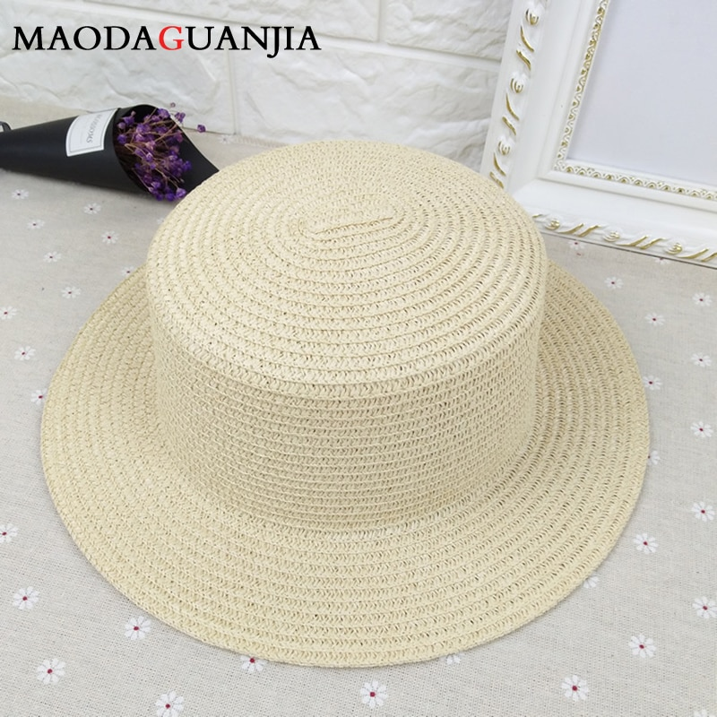 Chapéus de palha de borda larga bonito floppy dobrável das senhoras boné panamá praia sol chapéu de verão bege brimmed hawaiian moda uv sombra chapéus