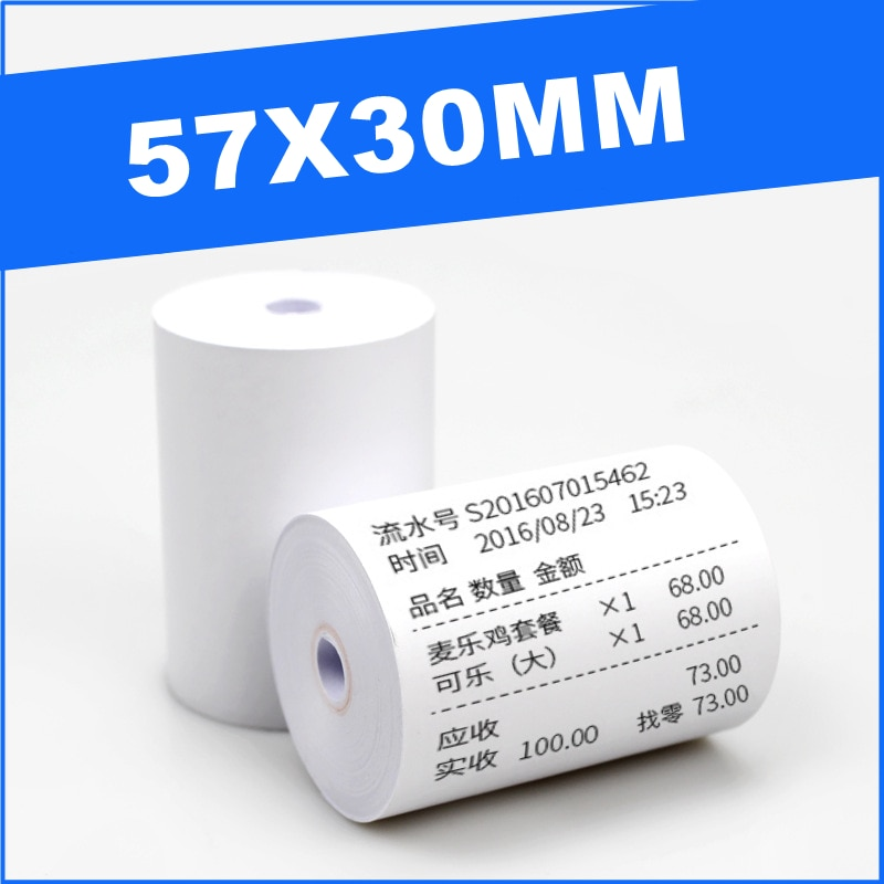 12 Roll 57X30mm Thermal Paper Label Paper Thermal Paper for Mobile Bluetooth Cash Registers POS Printer Mini Printer Accessories