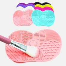 Makeup Brush Scrubber Board Silicone Makeup Brush Cleaner Pad Make Up Washing Brush Gel Cleaning Mat