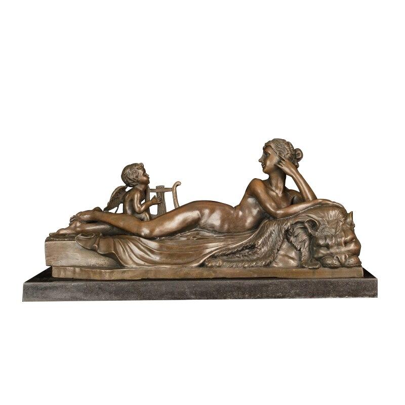Bronze Greek mythology art decor bronze lady with boy statue sculpture for sale